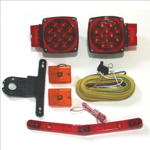 Waterproof Over 80'' LED Trailer Light Kit on trailer generator, trailer hitch harness, trailer plugs, trailer brakes, trailer fuses, trailer mounting brackets,