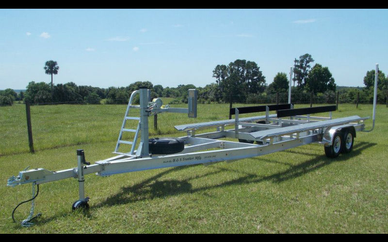 how to build a pontoon boat trailer